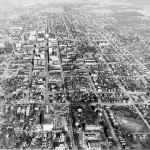 Aerial View of Raleigh, 1950