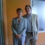 Casey Steinbacher with Chris Carmody, Green Plus Executive Director