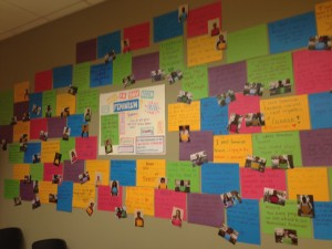 """The """"Who Needs Feminism?"""" wall at the CWC"""