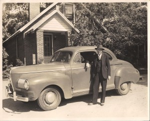 My great-grandfather, Dr. Henry Webster Barrier, standing in front of his home clinic.