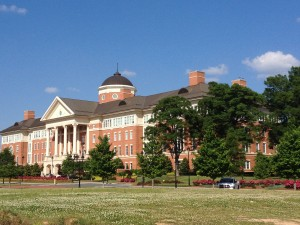 One of the main buildings on the 350 acre North Carolina Research Campus.