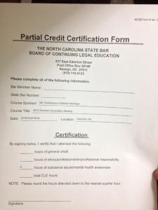 partial credit form