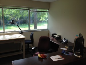 My office located at the Alfred M. Brown Operations Center in Concord, NC.
