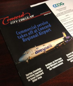 Concord Regional Airport was featured in the Spring 2014 edition of the City Circular.