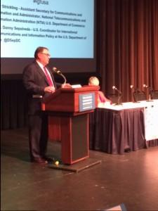 Lawrence Strickling speaks at IGF USA