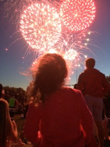 Firework show on the National Mall