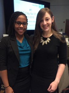 Olivia and I at the 2015 State of the Region conference