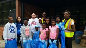 Councilperson Bramlett with his cleanup crew, the Youth Royalty dance group.