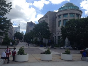 A beautiful day in downtown Raleigh! Looking across Jones St. from the General Assembly.