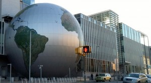 Globe outside the NC Museum of Natural Sciences